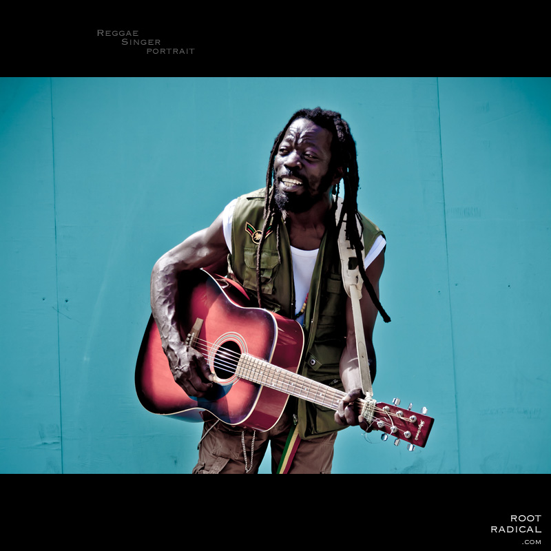 Portrait of a reggae singer