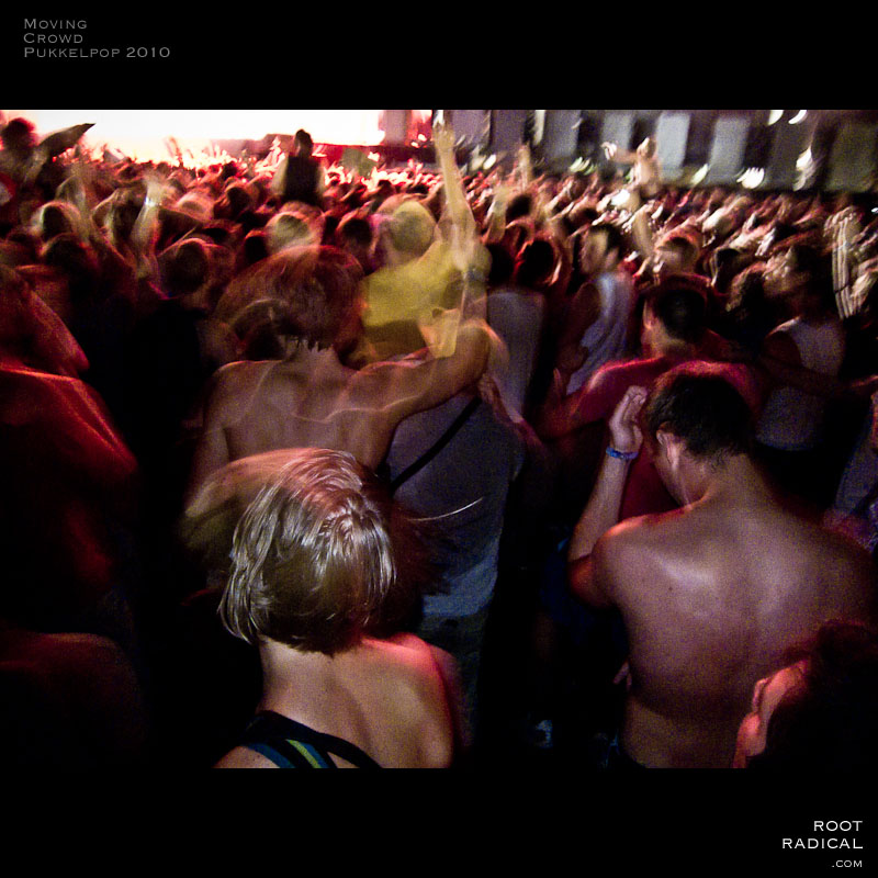 Moving crowd at the Pukkelpop 2010 festival